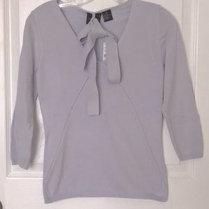 Lilac or Dusty Lavender Sweater w Tie Light Weight